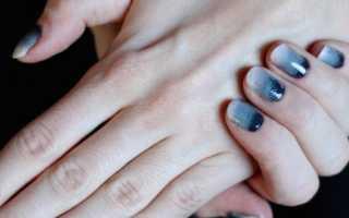Градиентный маникюр фиолетового цвета: маникюр, фото дизайна ногтей