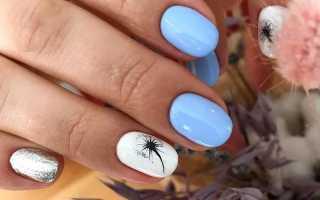 Великолепие голубого в летнем маникюре: маникюр, фото дизайна ногтей