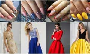 Фото-идеи маникюра под цвет платья: красивые новинки 2021-2022