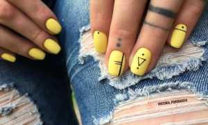 Желтый матовый маникюр: маникюр, фото дизайна ногтей