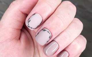 Весенняя веточка на ногтях с френчем: маникюр, фото дизайна ногтей