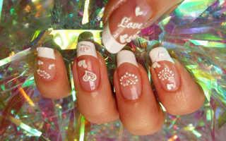 Бархатные сердечки на ногтях с узорами: дизайн с фото