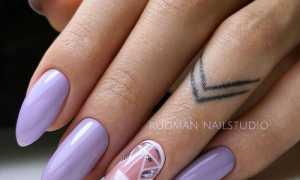Фиолетовый маникюр на ногти разной длины: маникюр, фото дизайна ногтей