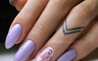 Великолепный фиолетовый маникюр на длинные ногти: маникюр, фото дизайна ногтей
