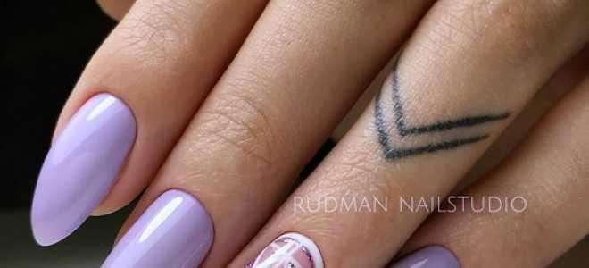 Фиолетовый френч в зимнем маникюре: маникюр, фото дизайна ногтей