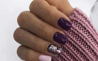 Голографический фиолетовый маникюр на длинные ногти: маникюр, фото дизайна ногтей