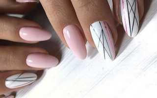 Маникюр синий с черными полосками: маникюр, фото дизайна ногтей