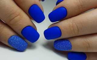 Маникюр с синими цветами: маникюр, фото дизайна ногтей
