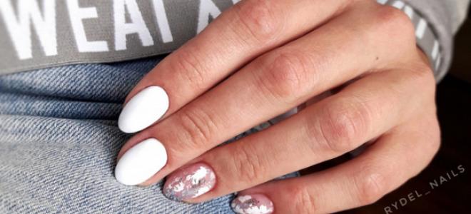 Маникюр белый с цветами: маникюр, фото дизайна ногтей