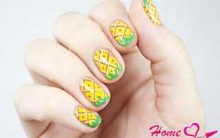 Маникюр с ананасом: маникюр, фото дизайна ногтей