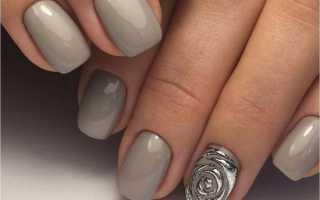 Маникюр в серых тонах: маникюр, фото дизайна ногтей
