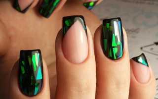 Великолепный маникюр с битым стеклом: маникюр, фото дизайна ногтей