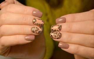 Вензеля на сером лаке: маникюр, фото дизайна ногтей