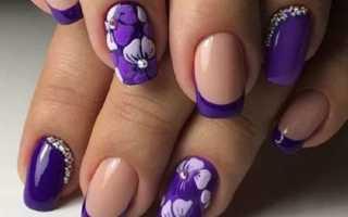 Фиолетовый сиреневый: маникюр, фото дизайна ногтей