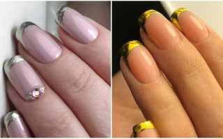 Двойной френч на длинных ногтях: маникюр, фото дизайна ногтей