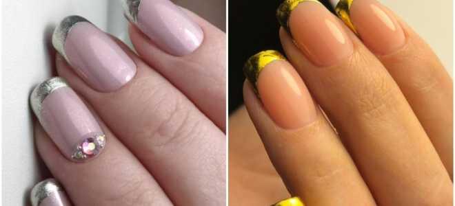 Яблочный френч: маникюр, фото дизайна ногтей