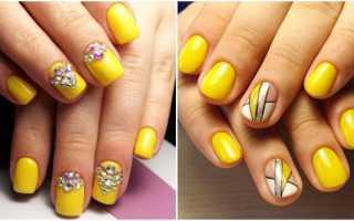 Завораживающий маникюр желтого цвета с узорами: маникюр, фото дизайна ногтей