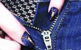 Джинсовые ногти: маникюр, фото дизайна ногтей