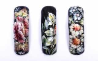 Жостовская роспись в стильном маникюре: маникюр, фото дизайна ногтей