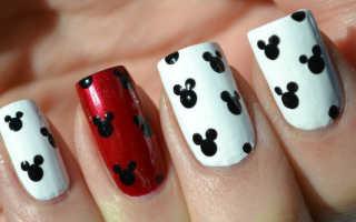 Маникюр с мики маусом: маникюр, фото дизайна ногтей