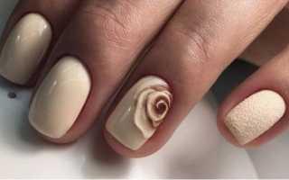 Маникюр нюдовый с другими цветами: маникюр, фото дизайна ногтей