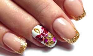 Новогодний френч в коричневых тонах: маникюр, фото дизайна ногтей