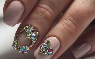 Маникюр с сердечками на день Влюбленных: маникюр, фото дизайна ногтей