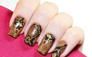 Дизайн со змейкой: маникюр, фото дизайна ногтей
