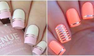 Простой дизайн ленточкой: маникюр, фото дизайна ногтей