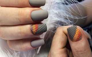 Маникюр серый с самолетиком: маникюр, фото дизайна ногтей