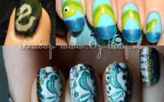 """Маникюр под """"змею"""" и френч для длинных ногтей: маникюр, фото дизайна ногтей"""